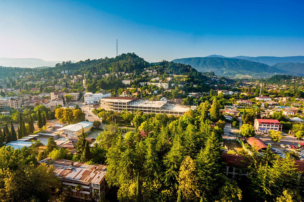 Столица Абхазии, панорама
