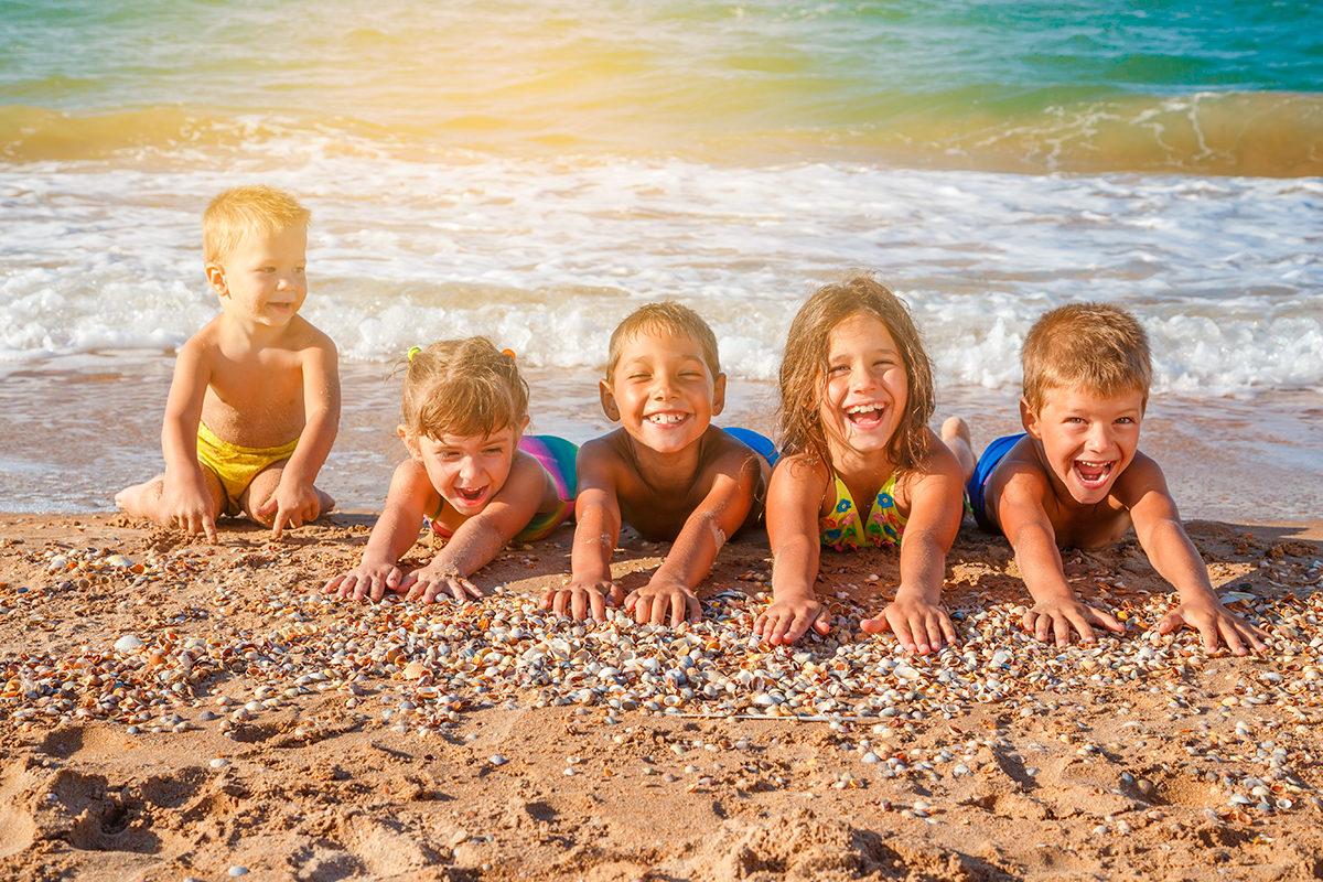 Пляж-лучший друг для детей