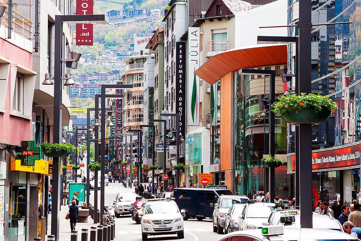 Коммерческий район в Андорра ла Велла, Андорра