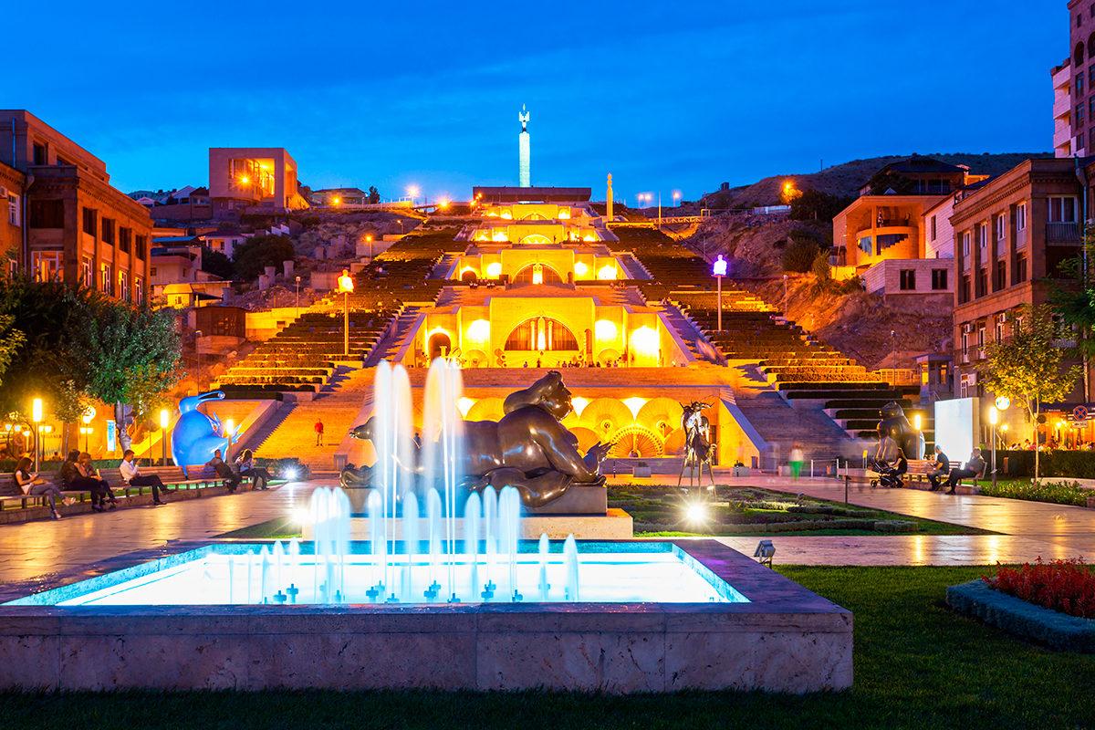 Большой каскад, Ереван