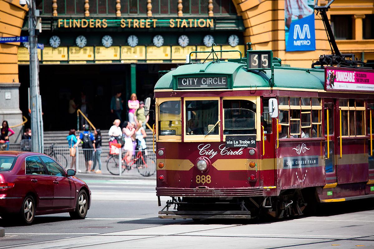 Один из мельбурнских трамваев