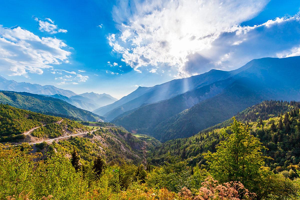 Горный пейзаж Азербайджана