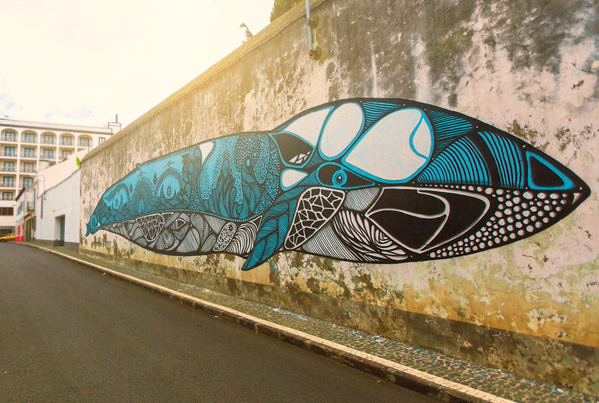 Яркий пример творчества уличных художников