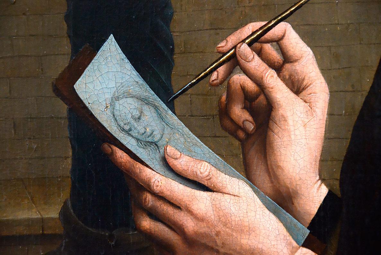 Одно из полотен в музее Грунинге, Брюгге