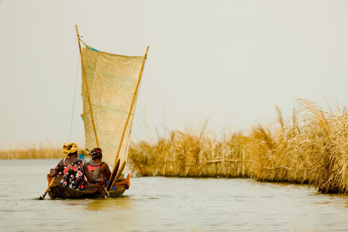 В деревню Ganvie в Бенин