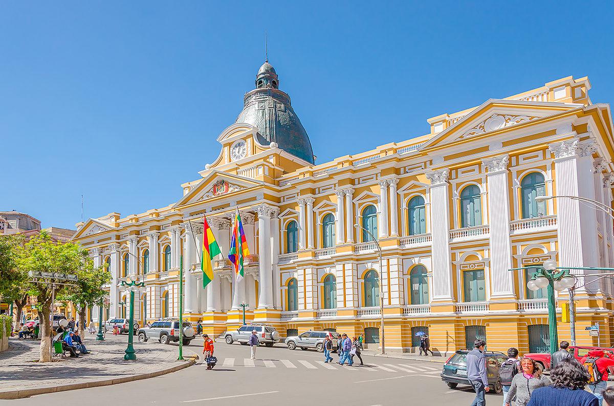 Правительственный дворец Боливии, Плаза Мурильо