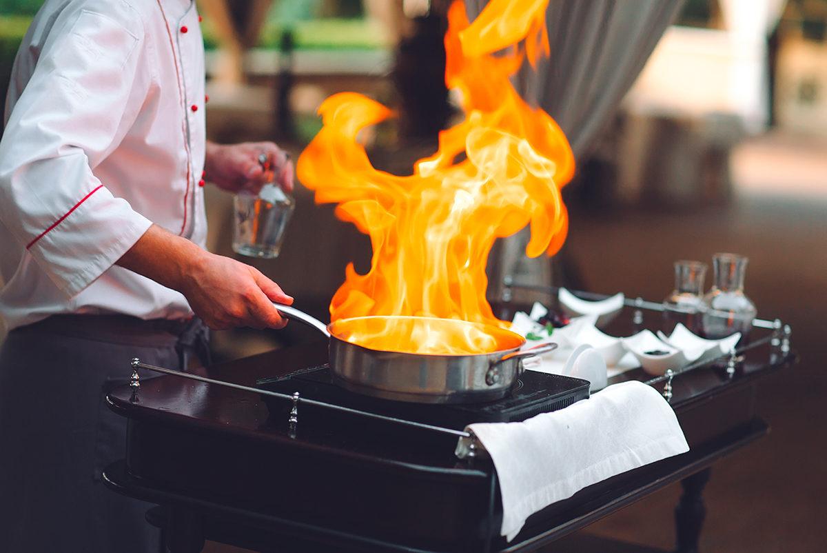 Приготовление блюда при вас