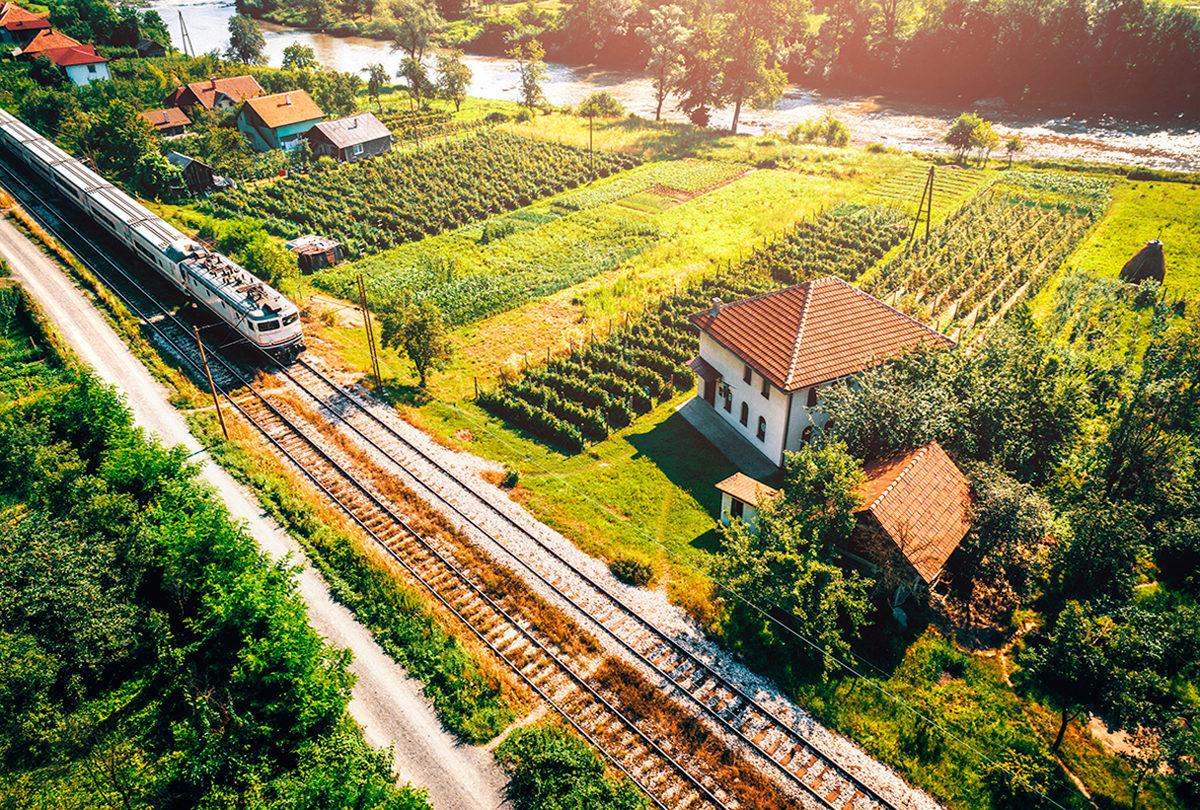 На поезде по территории страны