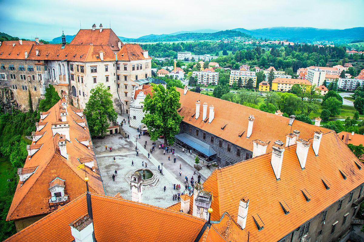 Замок Чешский Крумлов, внутренний двор