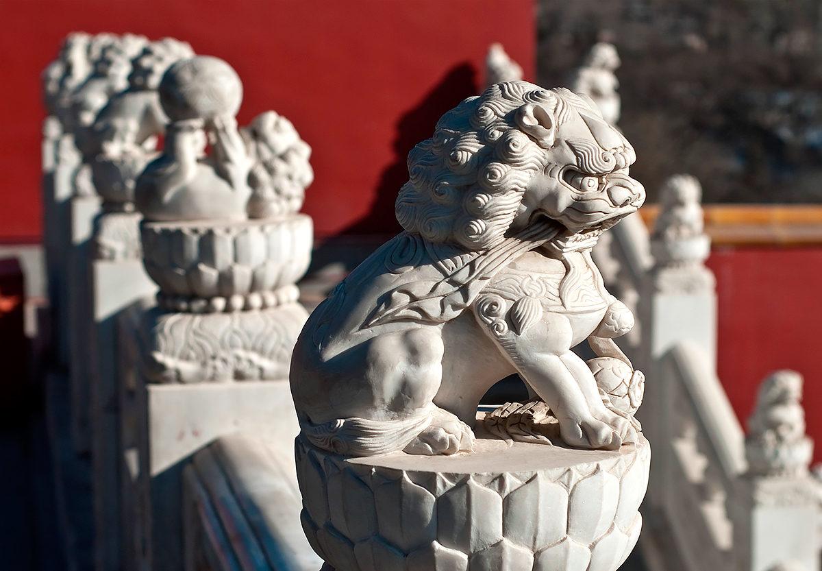 Статуи драконов, парк Бадачу