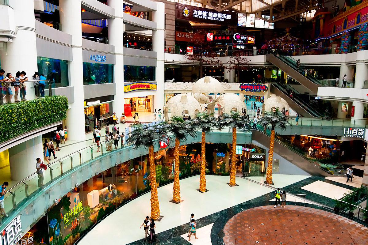 В торговом центре Гуанчжоу