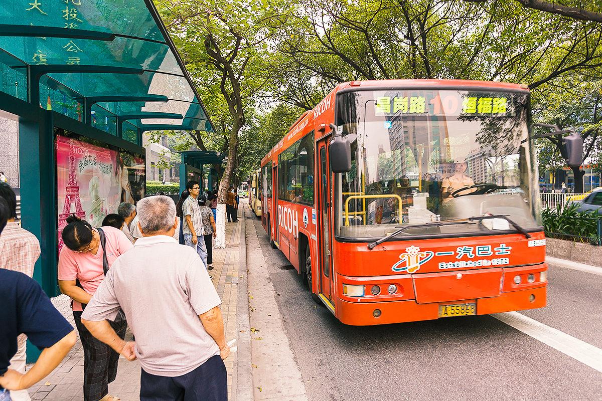 Автобусная остановка в Гуанчжоу