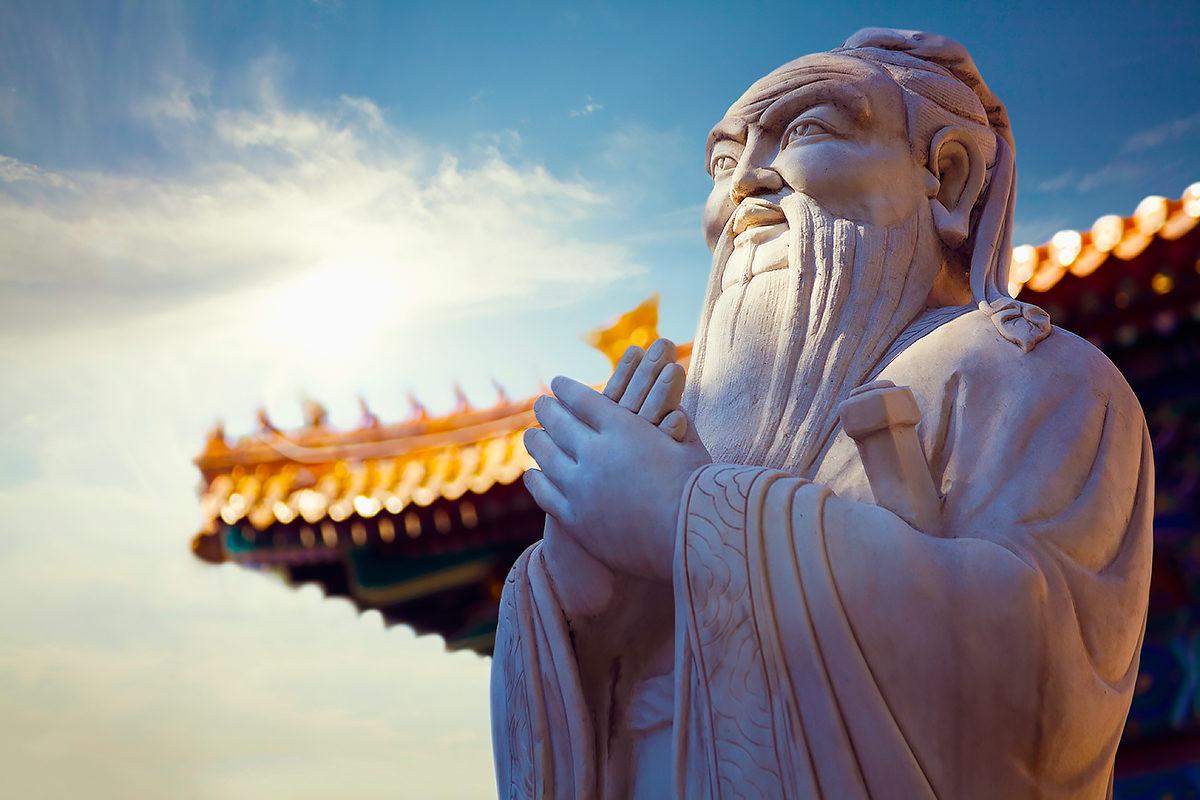Статуя Конфуция, Китай