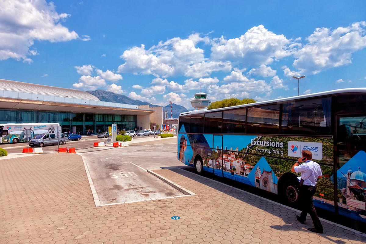 Автобусная стоянка у аэропорта, Дубровник