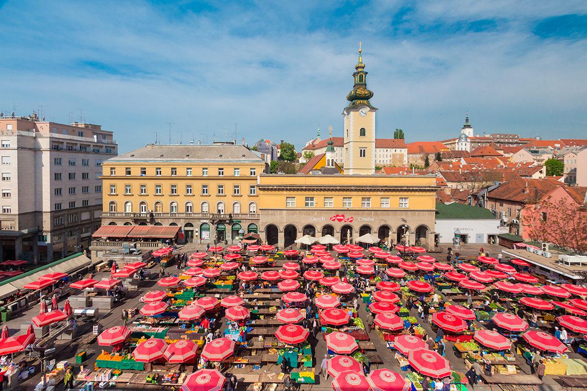 Рынок Долац, Загреб