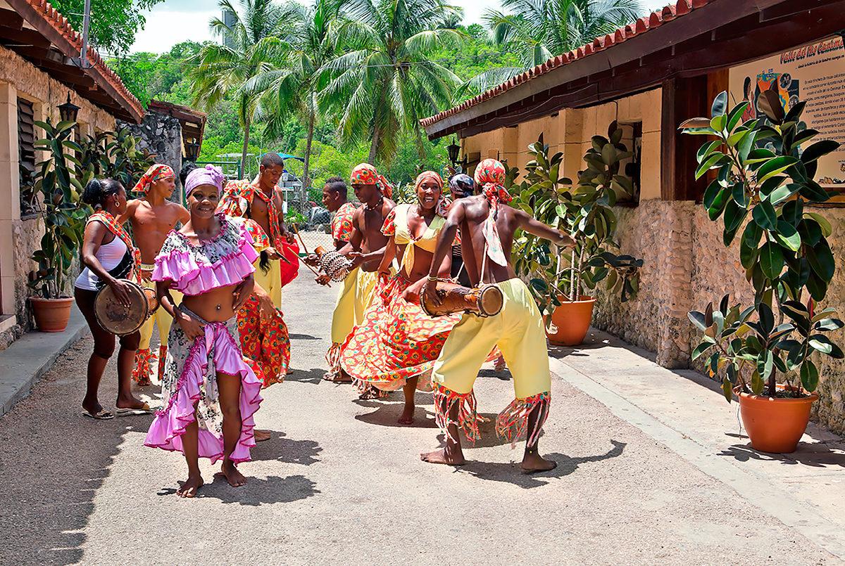 Африканские танцы на улице Гаваны