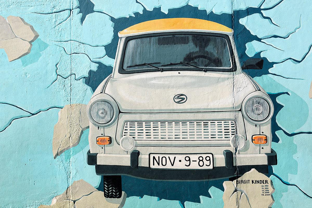 Тематические рисунки Берлинской стены