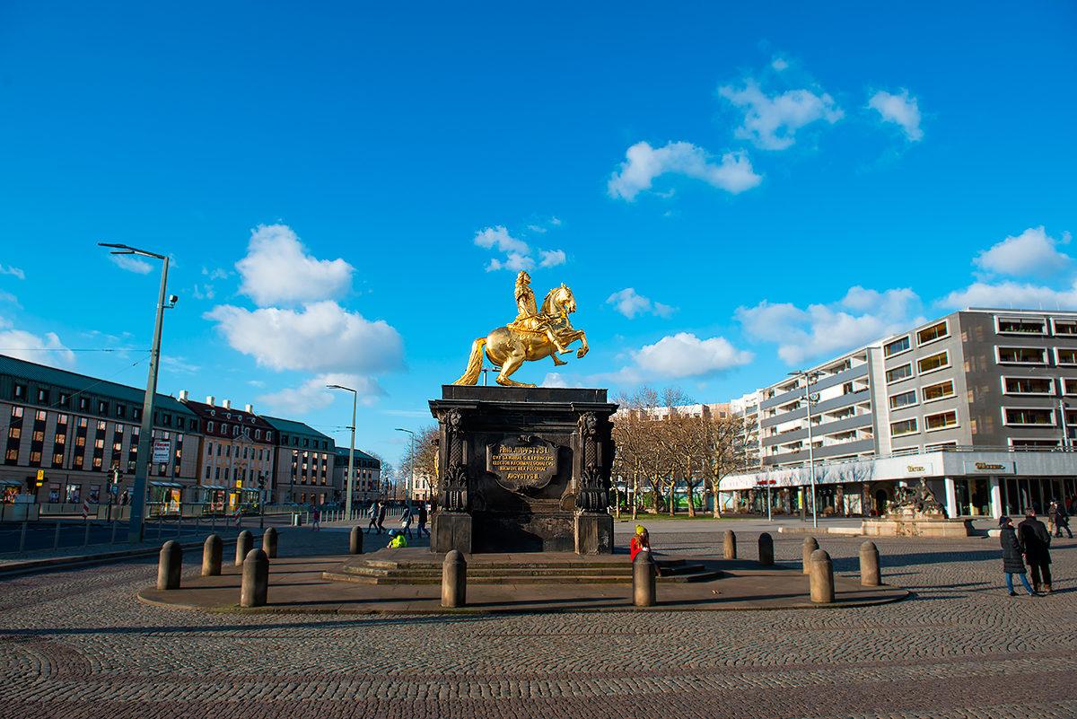 Золотой всадник, Дрезден