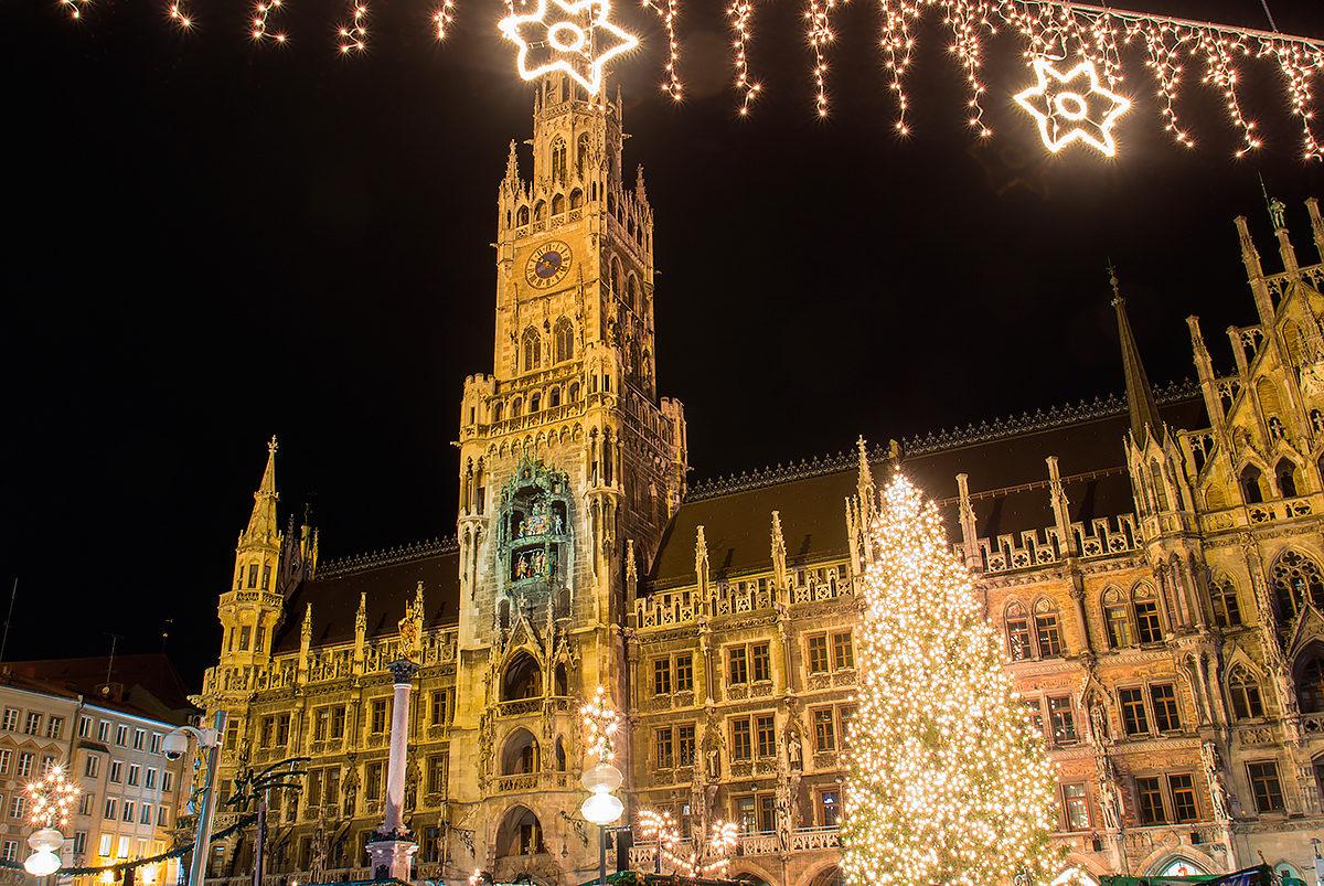Мариенплац в Рождество