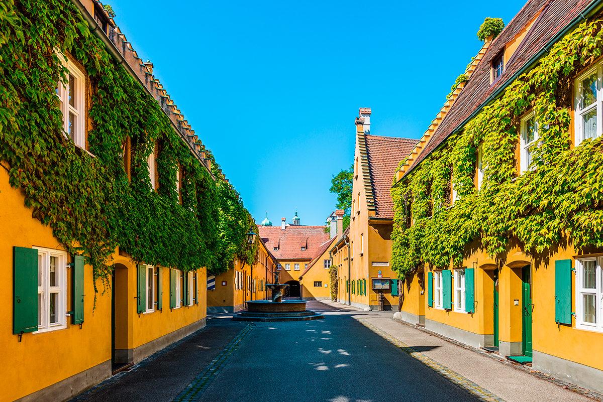 Улочка квартала Фуггерай, Аугсбург