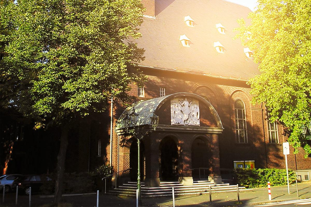 Главный вход в Церковь Благодарения, Дюссельдорф