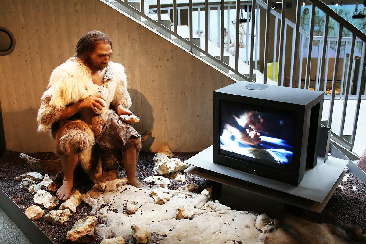 В музее Неандерталь, Дюссельдорф