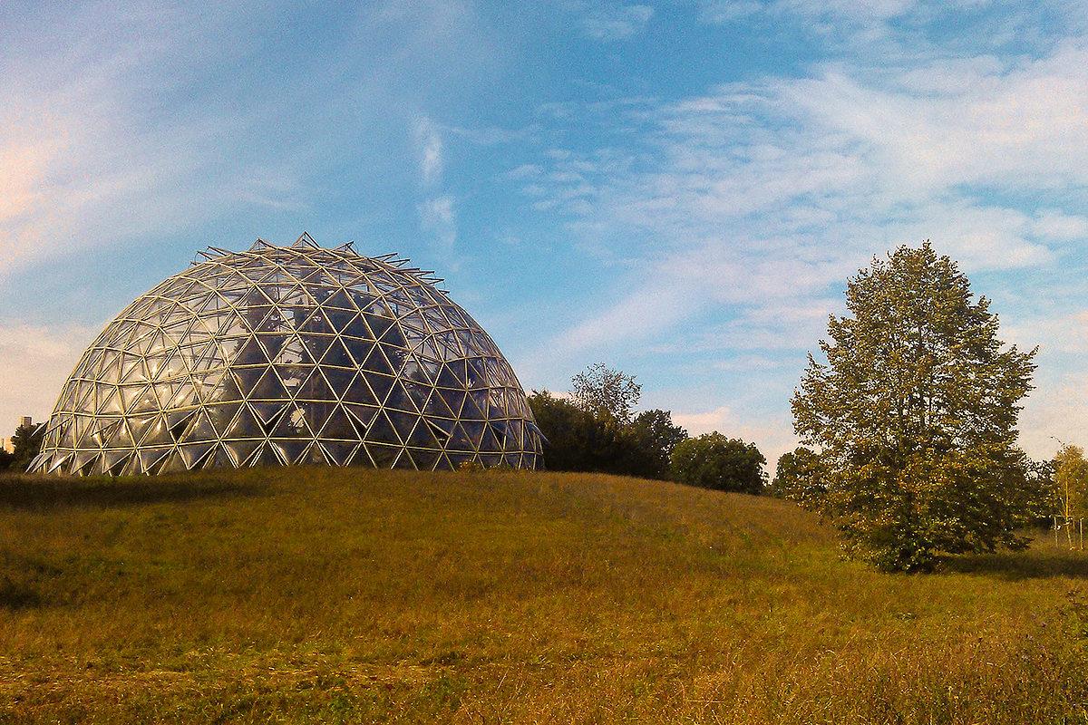 Купол парника в Ботаническом саду, Дюссельдорф