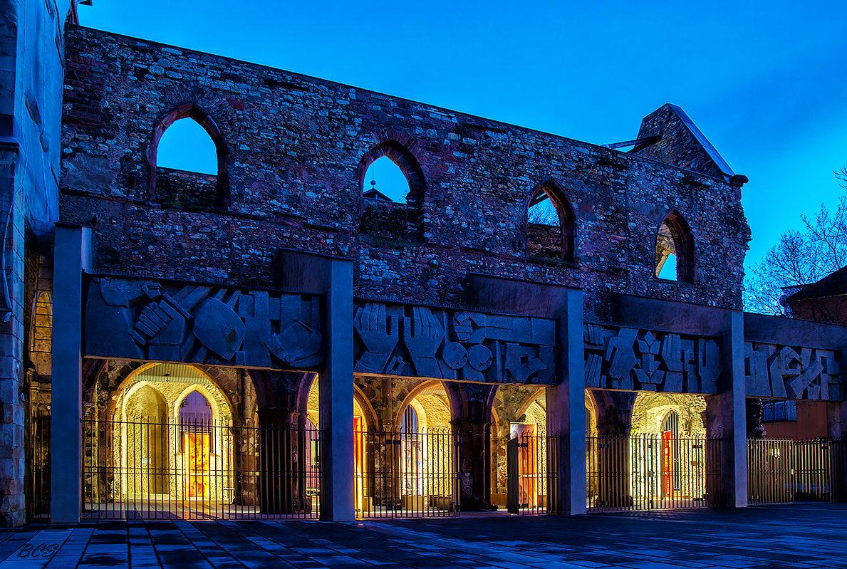 Церковь святого Христофора в ночное время
