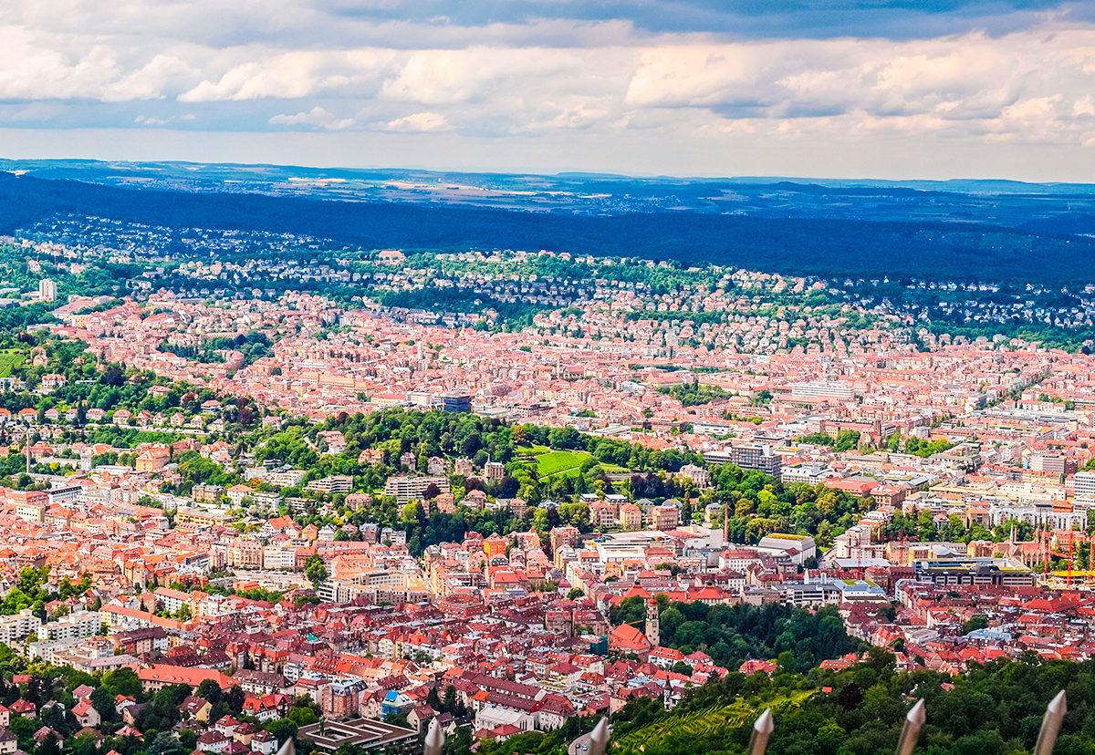 Штутгарт как на ладони, общий вид города