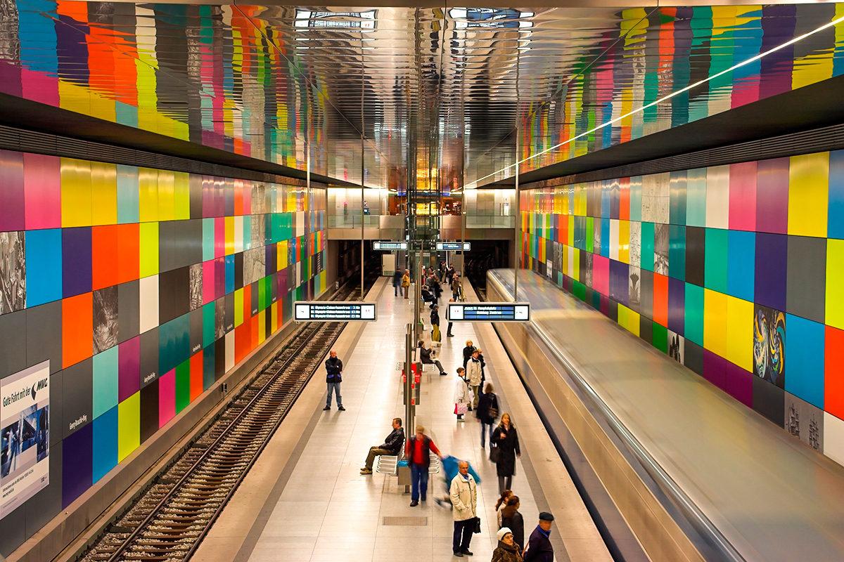 Одна из станций метро в Мюнхене