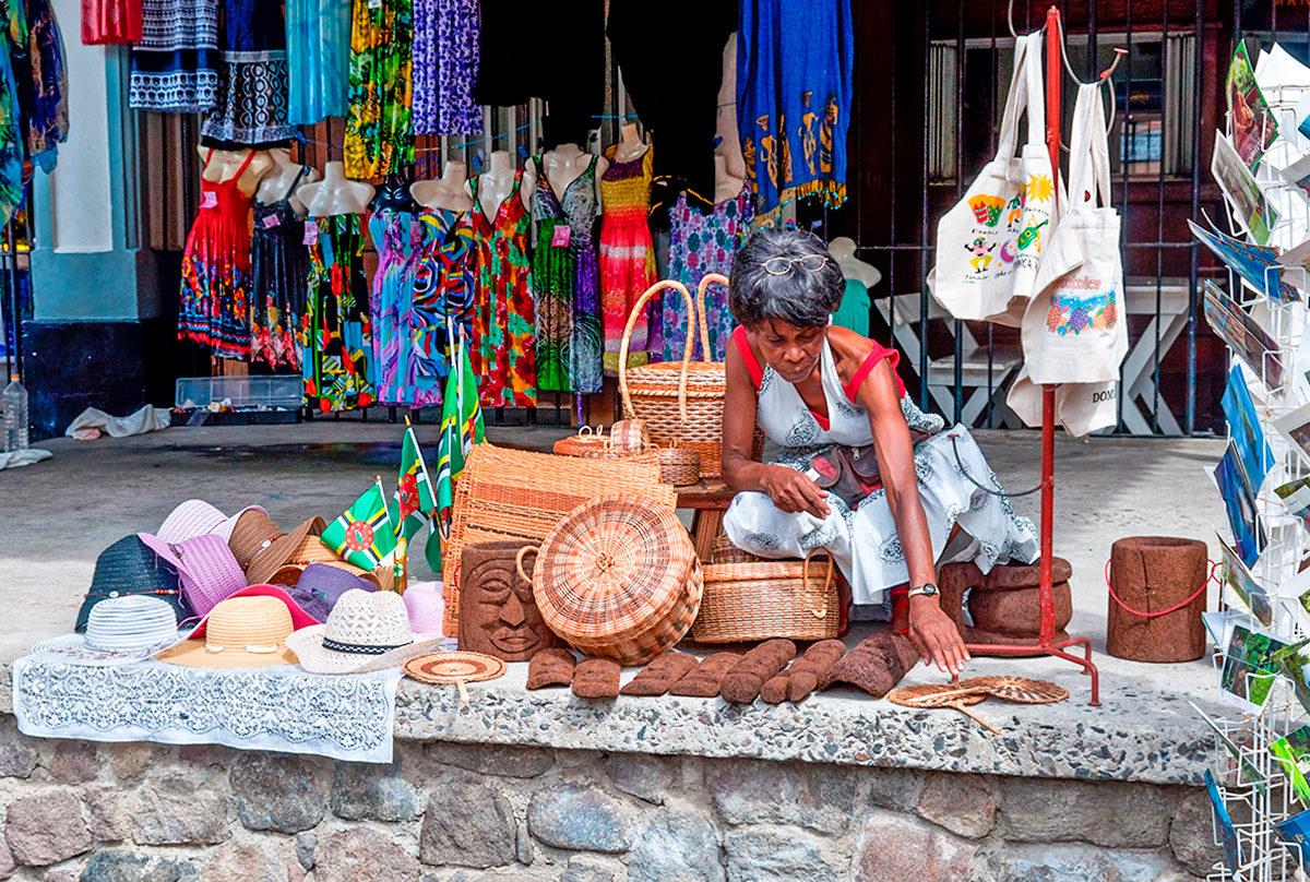 Рынок в Доминике