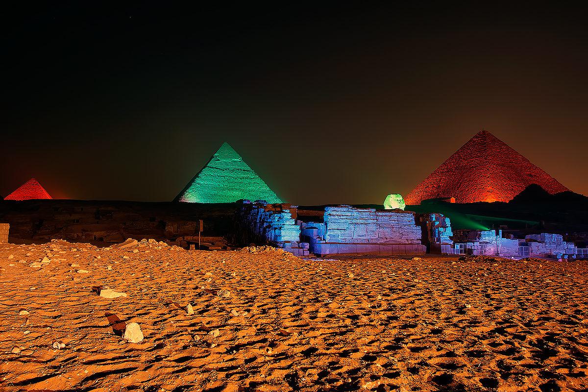 Световое шоу, Египет