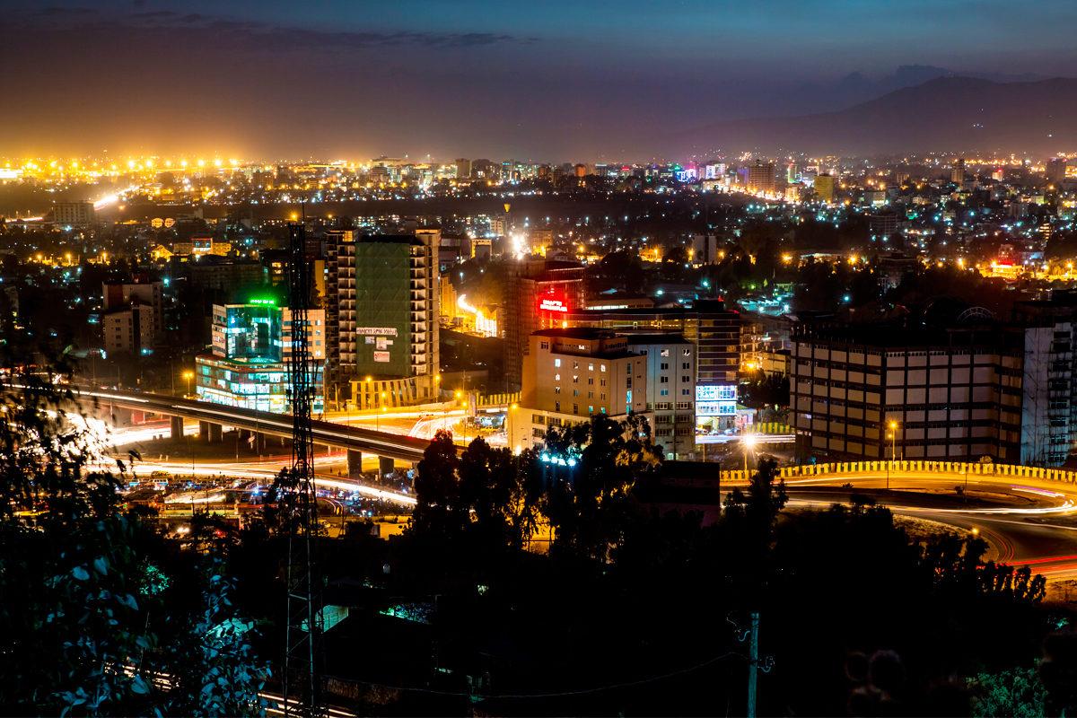 Ночные огни Аддис-Абебы