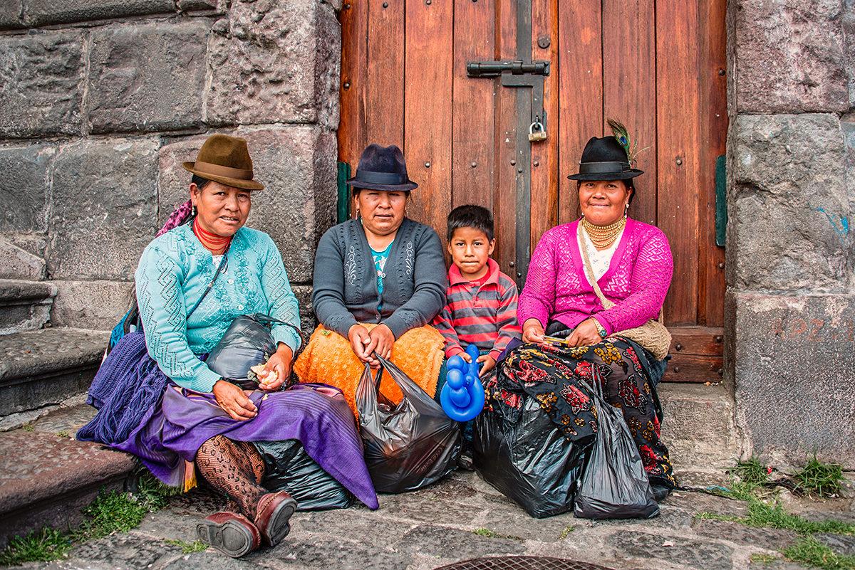 Портрет коренных жительниц Эквадора