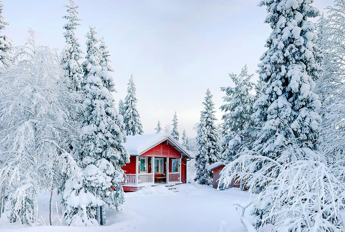 Уютная зима в Финляндии