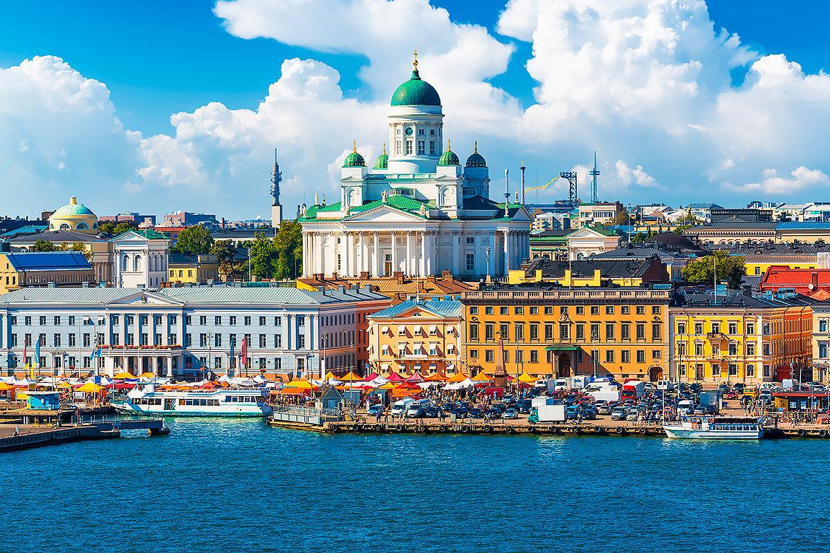 Летняя панорама, Хельсинки