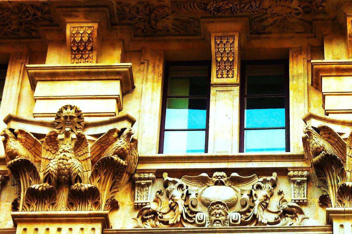 Особняк Боже, фасад в деталях