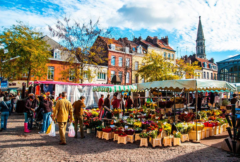 Рынок в Лилле, Франция