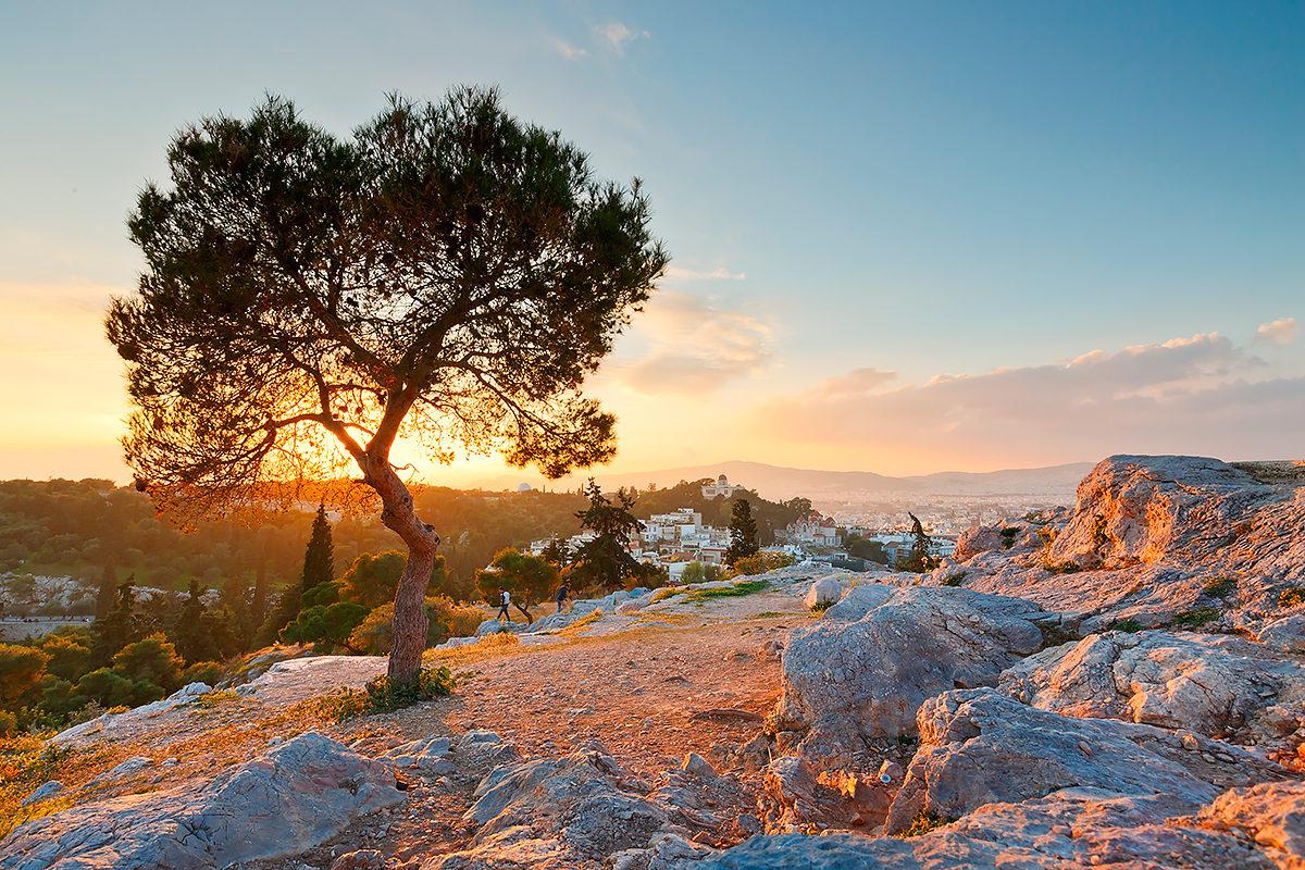 Холм Ареопага, закат