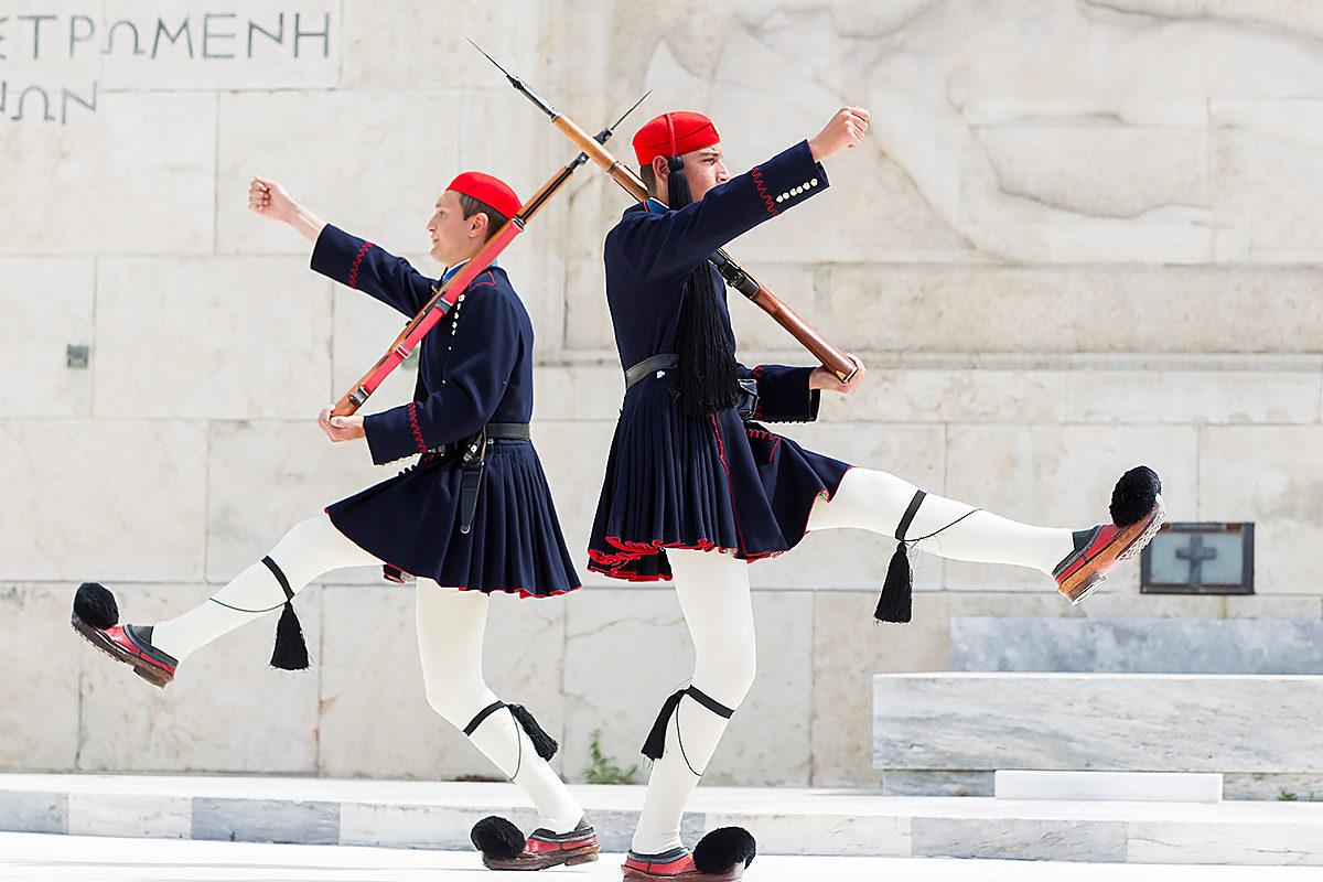 Смена караула, Парламент Греции