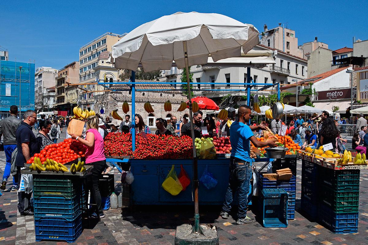 Монастираки, рынок