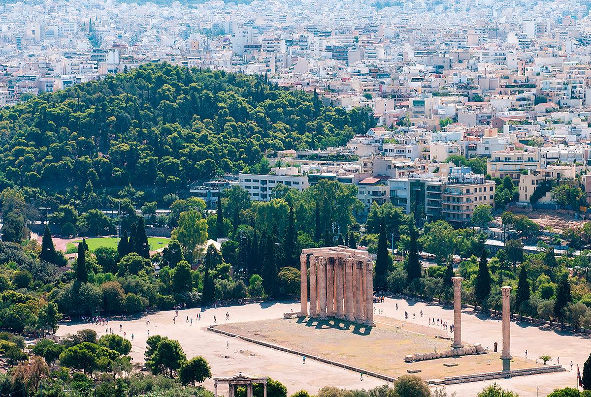 Храм Зевса Олимпийского, общий вид