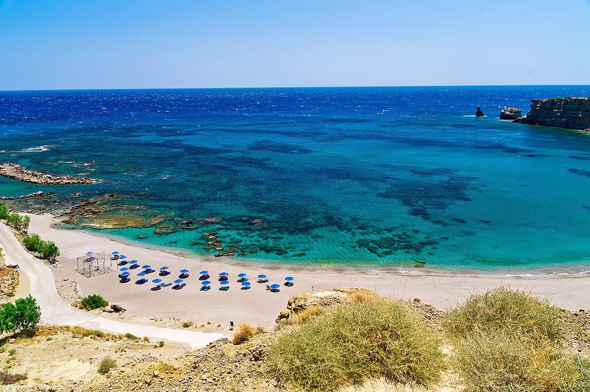 Пляж Триопетра, общий вид