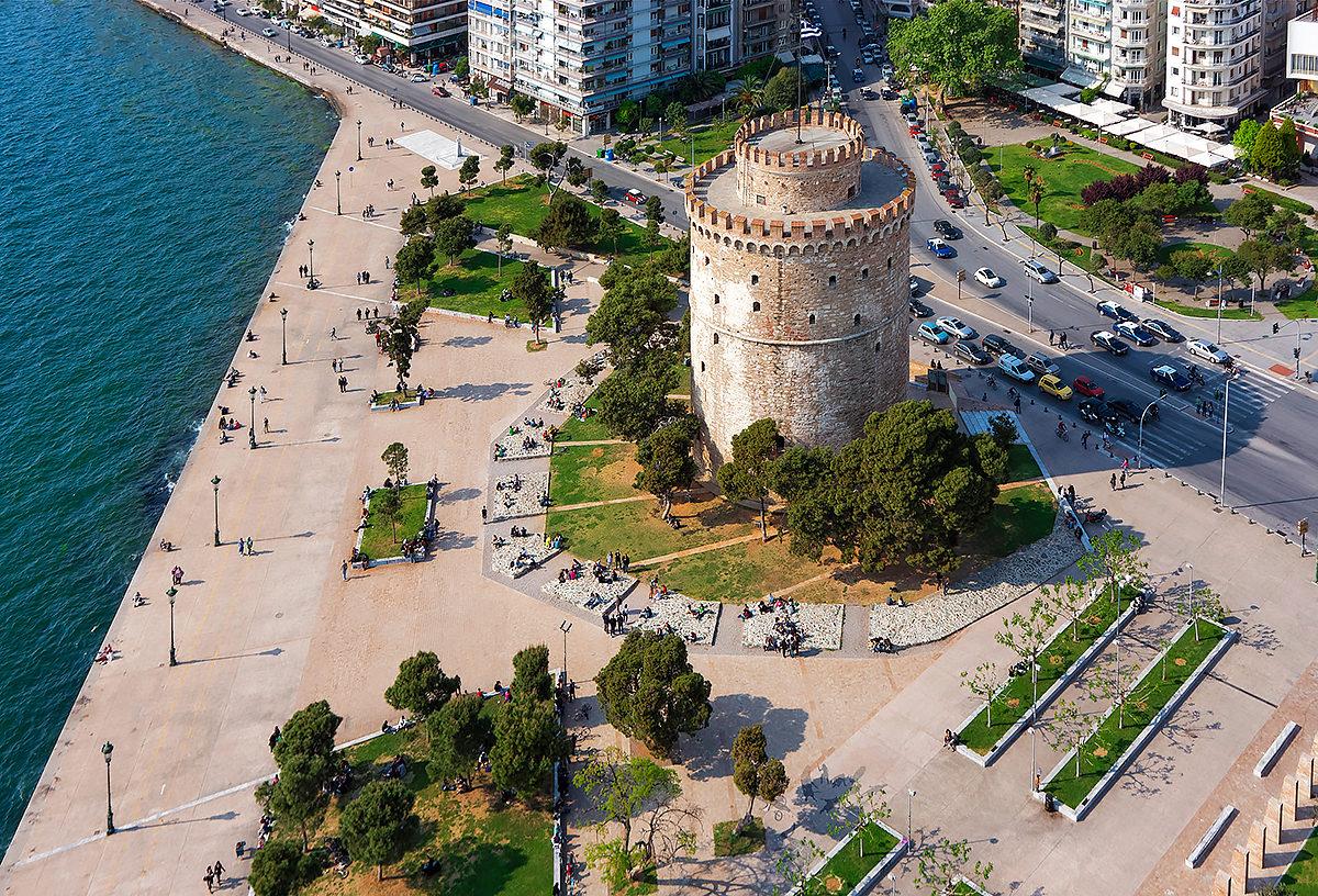 Белая башня, вид сверху