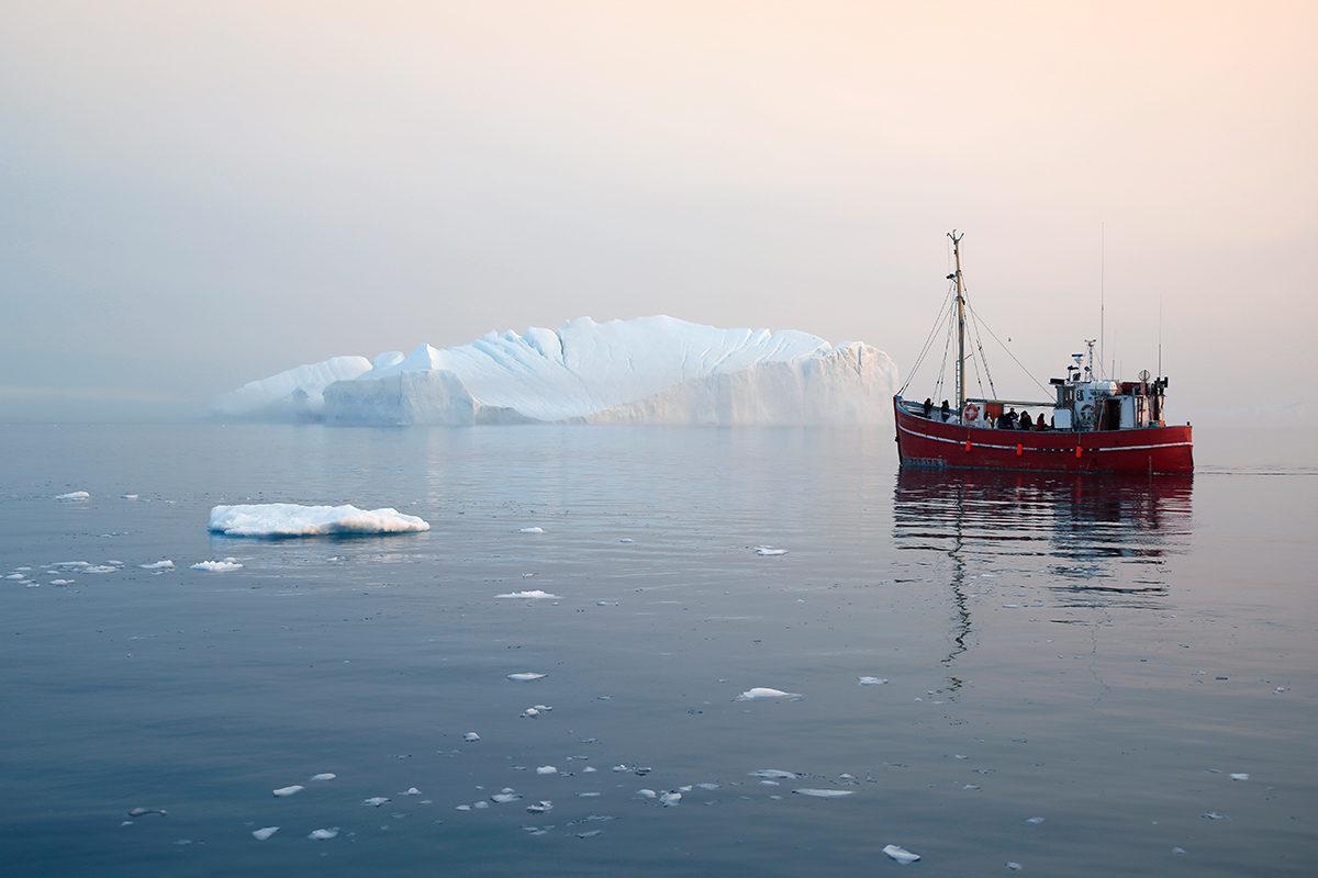 Маршруты в лабиринтах айсбергов
