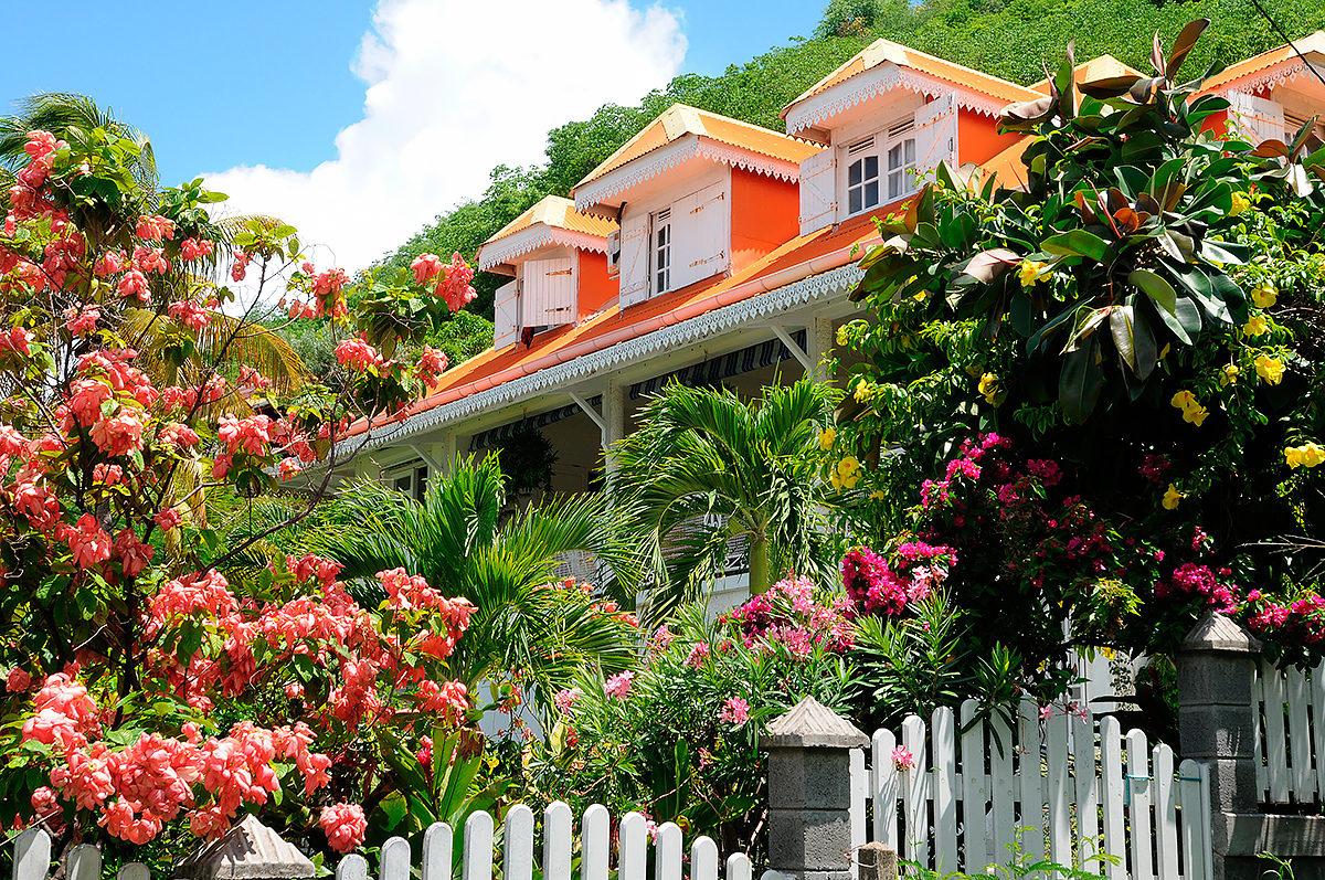 Жилой дом с садиком, Гваделупа