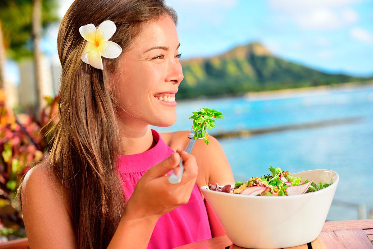 Сочный гавайский салат