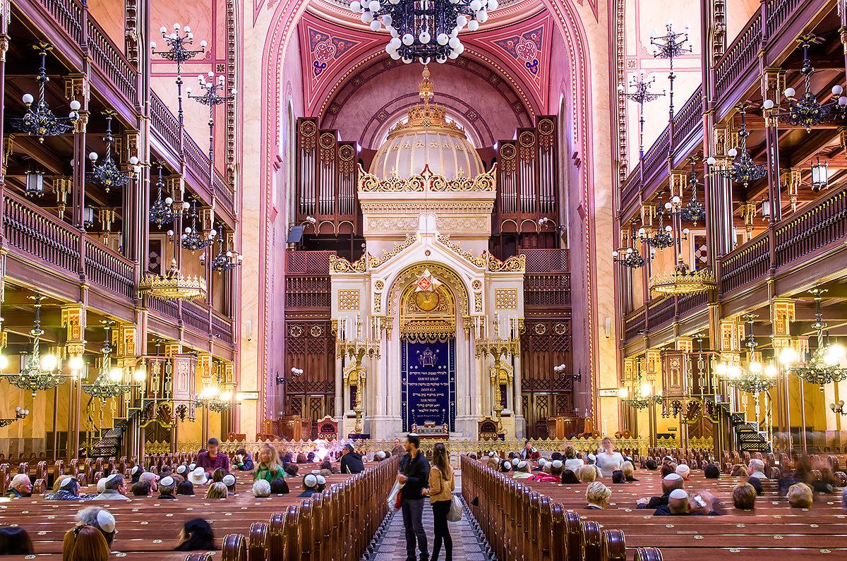 Интерьер Большой Синагоги, Будапешт