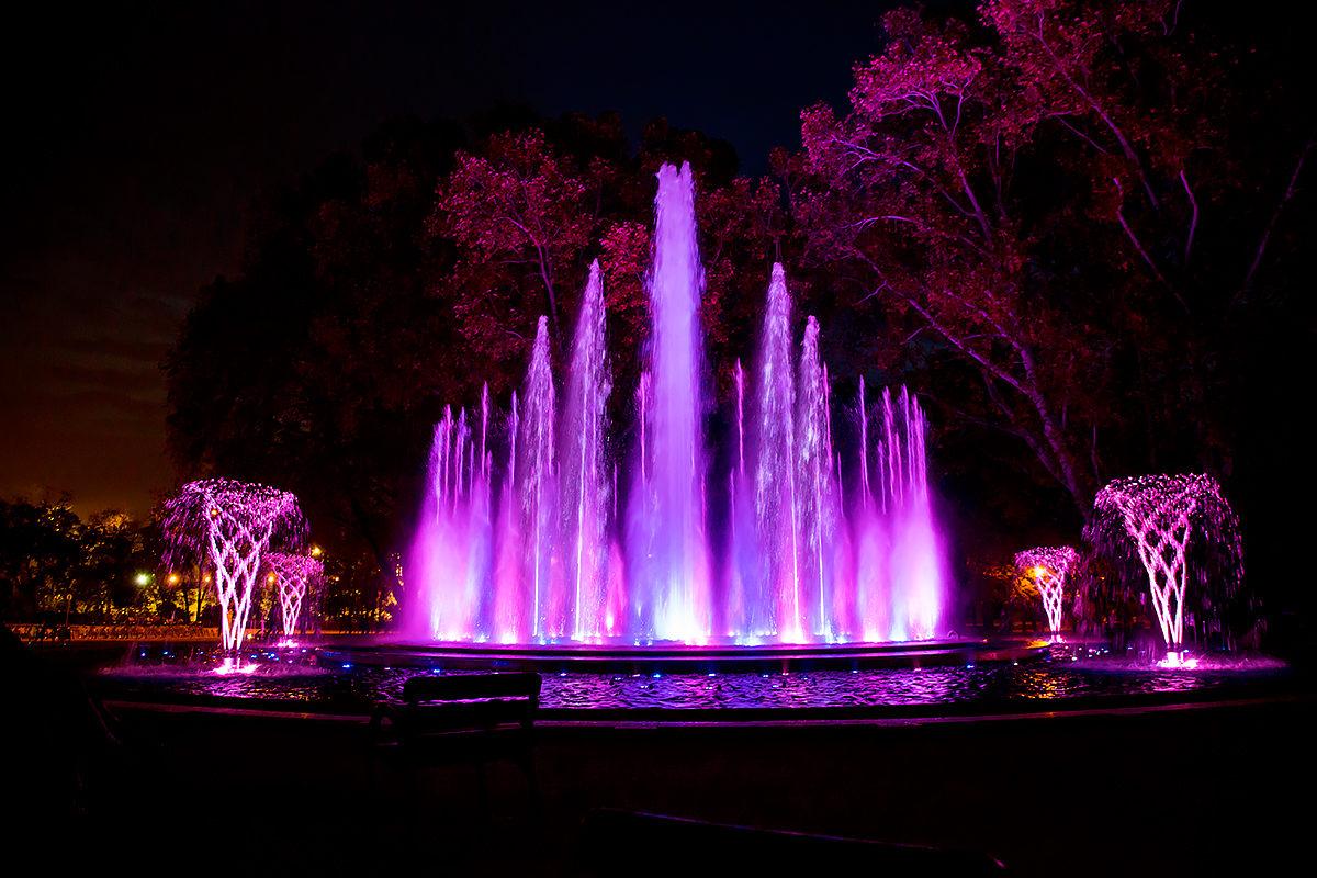 Музыкальный фонтан на острове Маргит