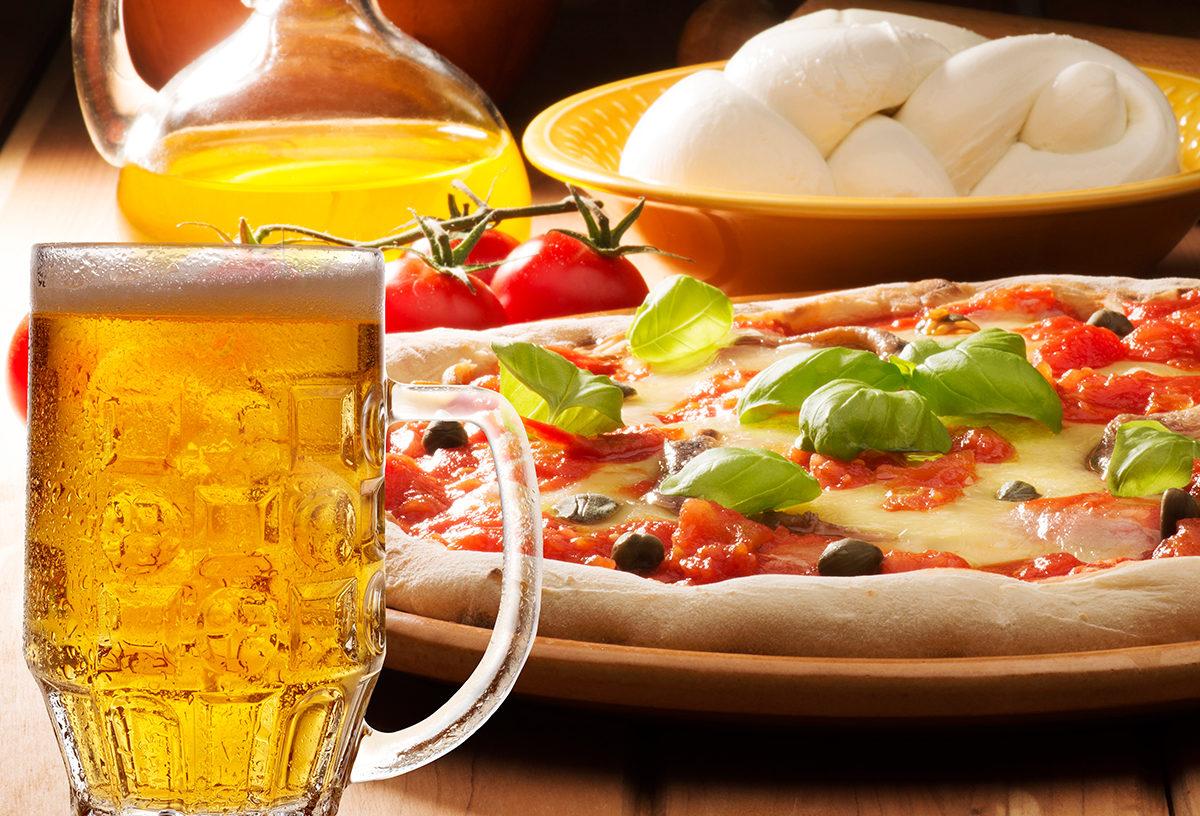 Пицца, пиво